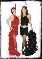Adult Sexy Black Red Flapper Polyester Roaring 20's 1920's Halloween Costume