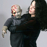 Life Size Zombie Zack Latex Bloody Baby Walking Dead Puppet Halloween Prop Decor
