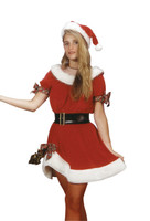 Adult Ms. Santa Claus Saint Nick Dress Complete Christmas Suit Costume