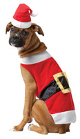 Pet Santa Claus Saint Nick Dog Christmas Costume Suit