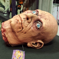 Life Size Severed Realistic Man Head Halloween Prop