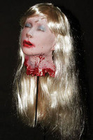 Life Size Severed Blonde Debbie's Head Halloween Prop