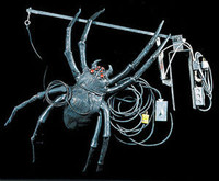 Huge Animated Attack Hanging Spider Halloween Prop