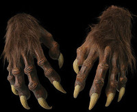 Werewolf Wolf Wolfman Claws Monster Latex Hands Halloween Costume Accessory