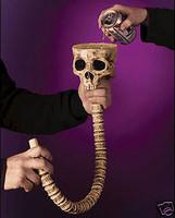Skull Spine Beer Funnel Halloween Party Prop Decoration