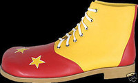 Red & Yellow Professional Deluxe Clown Shoes Halloween Costume accessories