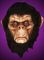 Realistic Chimp Chimpanzee Bad Brown Primate Ape Monkey Halloween Costume Mask