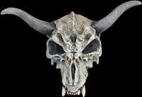 Realistic Adult Large Horned Animal Skull Halloween Costume Mask