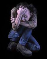 MANIAC CRAZY INZANE DISTURBED CRINGY Halloween Haunted Prop