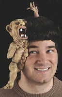 Little Brother Wig Freak Deformed Siamese Twins Halloween Costume Accessory