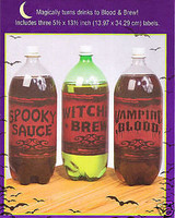 Liter Bottle Label Stickers Halloween Prop Decoration