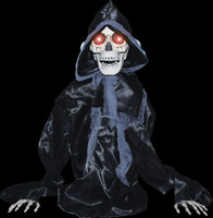 Life Size Animated Grave Rising Black Reaper Torso Halloween Prop Decor