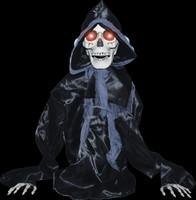 Life Size Animated Grave Rising Black Reaper Torso Halloween Prop Decor