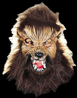 Howl O Ween Werewolf Wolfman w/ Moving Mouth Halloween Costume Mask