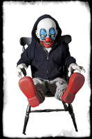 Giggles Bizarre Scary Rocking Laughing Clown Puppet Animated Halloween Haunted Prop