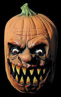 Fanged Jack-O-Lantern Pumpkin Halloween Mask Costume