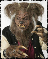 Extreme Wolfman Werewolf Hombre Lobo Halloween Mask Hands Costume