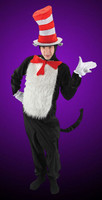 Deluxe Whimsical Dr Seuss Cat in The Hat Halloween Complete Costume Suit Adult XL