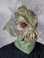 Deep Sea Creature Swamp Reptile Black Lagoon Moving Mouth Halloween Costume Mask