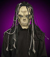 Dead Head Skull w/ Dreads Reaper Halloween Costume Mask