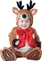 Deluxe Santas Reindeer Rascal Santa Claus Rudolph Christmas Infant Costume Suit