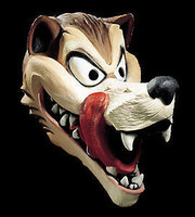 Cartoon Like Hungry Old Wolf Halloween Costume Mask
