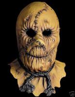 Burlap Look Scarecrow Zombie Halloween Mask Costume