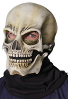 Classic Skull Moving Mouth Death Reaper Skeleton Halloween Costume Mask