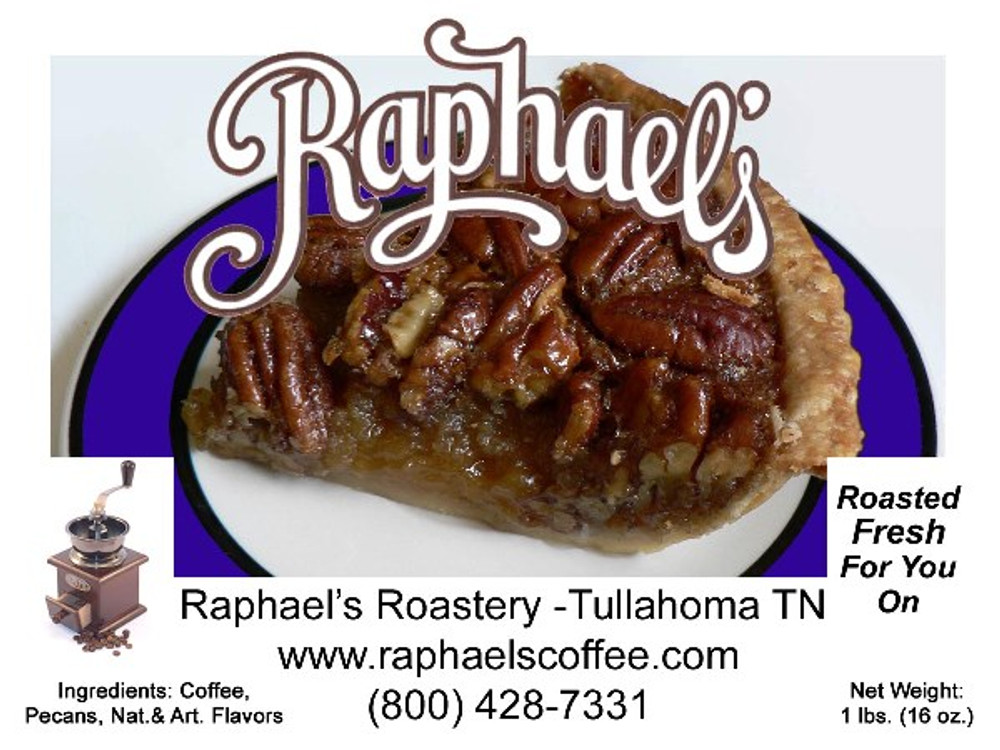 Delicious Southern Pecan coffee, with fresh Georgia pecans* mixed in.