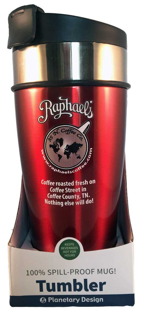 RAPHAELS TRAVEL MUG - 16 OZ