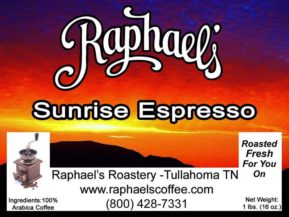 Sunrise Espresso - rise and shine!