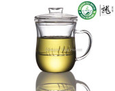 Clear Glass Mug With Lid & Infuser 300ml 10oz B-361