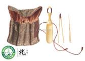 Travel Kit Bamboo Gongfu Tea Utensil Set * 3 Pcs