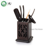 Chinese Cha Dao Set 6 Pieces Ebony Tea Utensils
