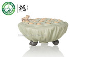 Frog on Lotus Seed Pod * Zisha Clay Desk Ornament