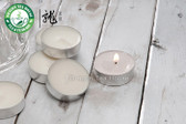 Dye Free White Unscented Smokeless Soy Tea Lights * 10