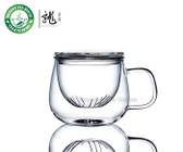 Vatiri Clear Glass Mug w/t Infuser 300ml 10.6oz VTC0001