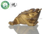 Color Change Lucky Golden Toad *  Yixing Clay Teatable Ornament