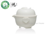 White Porcelain Gongfu Tea Cup & Teapot Set