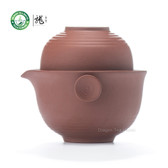 Yixing Clay Red Gongfu Teacups & Teapot Travel Set 3 Pcs