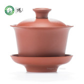 Red Pure Yixing Zisha Clay Chinese Gongfu Tea Gaiwan 100ml 3.38oz