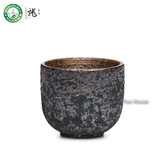 Handmade Wood-Fired Ceramic Teacup Chinese Gongfu Kung Fu Tea Cup 60ml 2.02oz