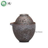 Handmade Wood-Fired Ceramic Portable China Gongfu Tea Cup Teapot Travel Set