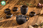 Handmade Wood-Fired Ceramic Ruyi Gongfu Tea Set Teapot Pitcher Four Teacups