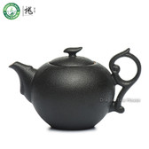 Black Zen Ceramic Chinese Teapot Gongfu Tea Brewing Serving Teaware 180ml 6.08oz