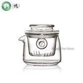FH-799G Lead-free Borosilicate Clear Glass Mini Gongfu Teapot With Infuser 160ml