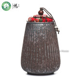 Handmade Melon Shapped Ancient Style Wood Fired Ceremic Tea Caddy 270ml