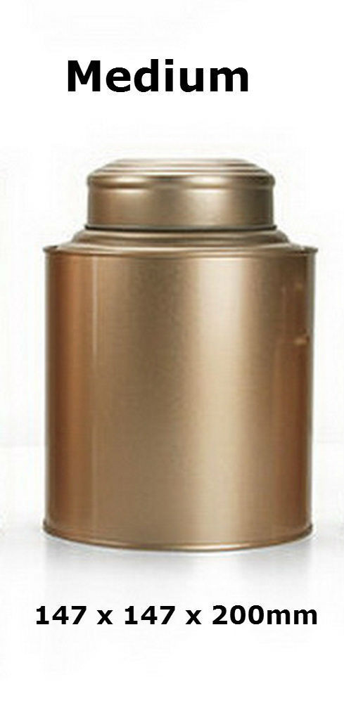 Double lid tea tin metal canister coffee can jar kitchen for 200mm wide kitchen unit