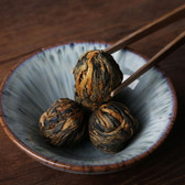 Handmade Dianhong with Rose Ball-shaped Golden Tip Flowering Yunnan Black Tea 5 Pcs
