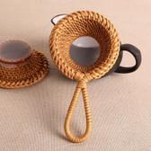 Handmade Rattan Woven Kungfu Tea Ceremony Strainer Handwoven Fine Mesh Filter